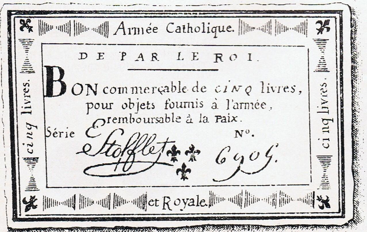 Assignat stofflet 1795